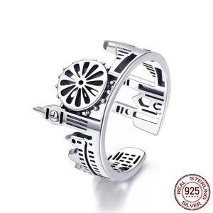 🍂London Skyline 925 Adjustable Ring!🌉